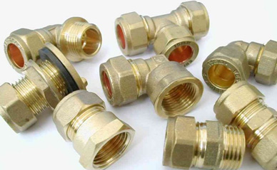 Brass Compression fittings available for most copper pipe sizes